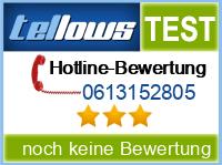 tellows Bewertung 0613152805